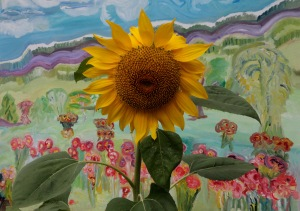 G Forss  Sunflower with DHW art  2014 small file