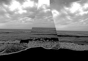 G Forss  Plum Island   Rectangle Light over Ocean 2  BW P small file