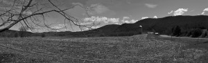 G Forss  Farm field panorama  Spring 5 stitch