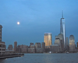 G Forss Freedom Tower at Night print  upright