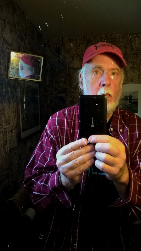 G Forss 'Selfie'  portrait in a mirror small file