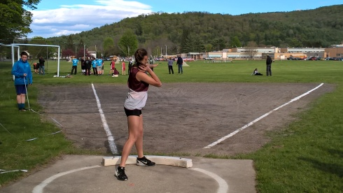 G Forss WP Shot put at school 1