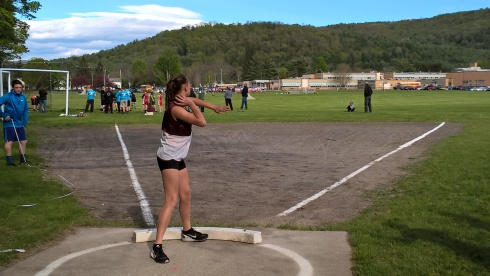 G Forss WP Shot put at school 2