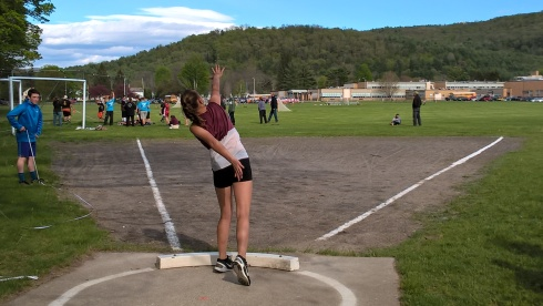 G Forss WP Shot put at School 3