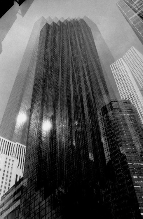 G Forss Trump tower double exposure Chinon camera small fi