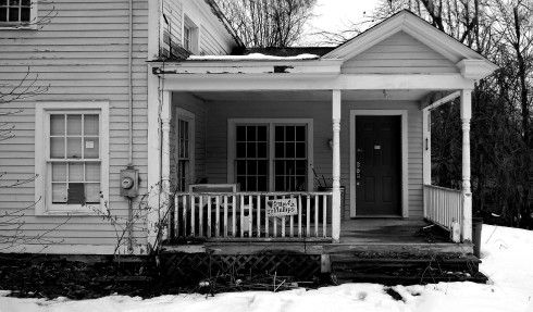 G Forss Abandoned and sad Phillip's house B&W
