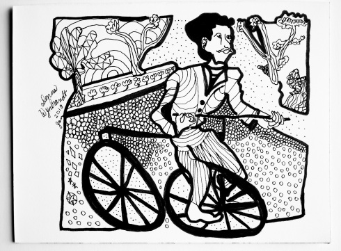 G Forss DHW Antique Bycicle days drawing small file