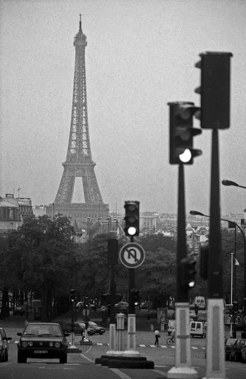 G Forss !994 Eiffel Tower from Paris boulevard