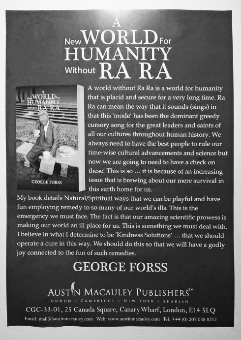G Forss Poster for my Ra Ra book
